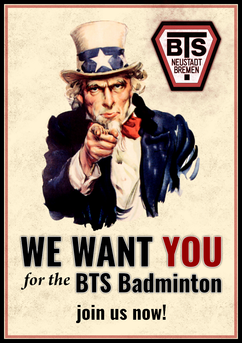 BTS Neustadt Badminton WE WANT YOU