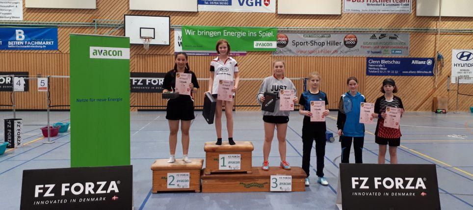 1. A-Rangliste U13-U19 im Jahr 2018 in Liebenau