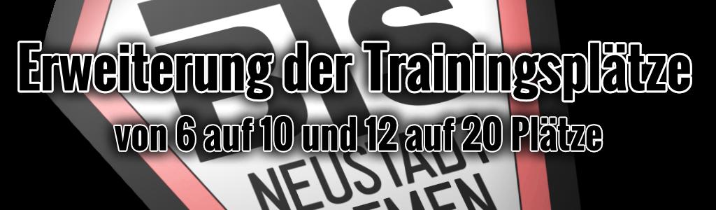 Erweiterung der Trainingsplätze